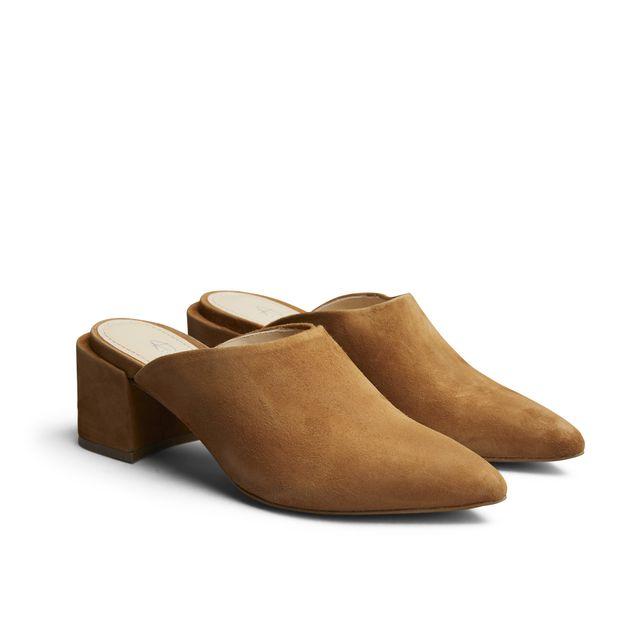 Rizzo Adela slip-in sandaler i mokka, dame