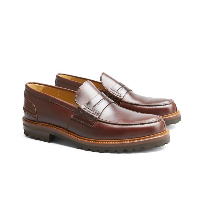 Rizzo Leon loafers i skinn, herre