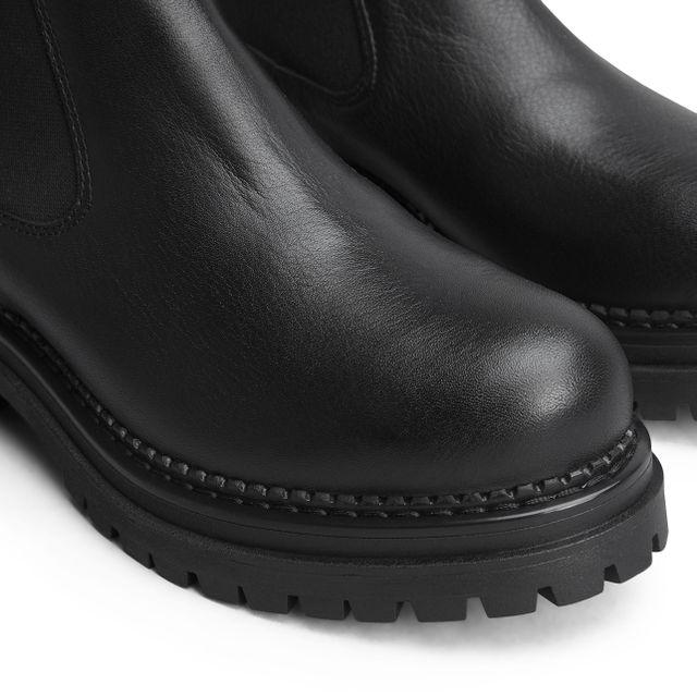 Rizzo Astrid Chunky Chelsea boots i skinn, dame