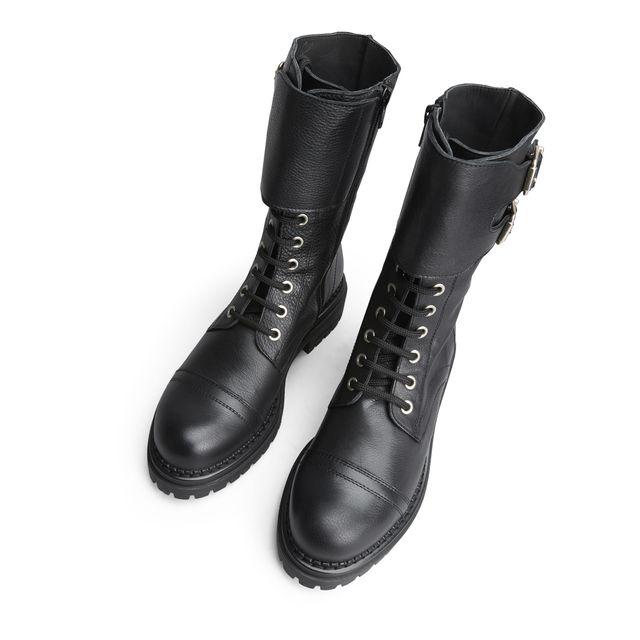 297044 Rizzo Anne Chunky støvler i skinn, dame