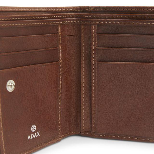 ADAX Ninni liten lommebok i skinn, dame