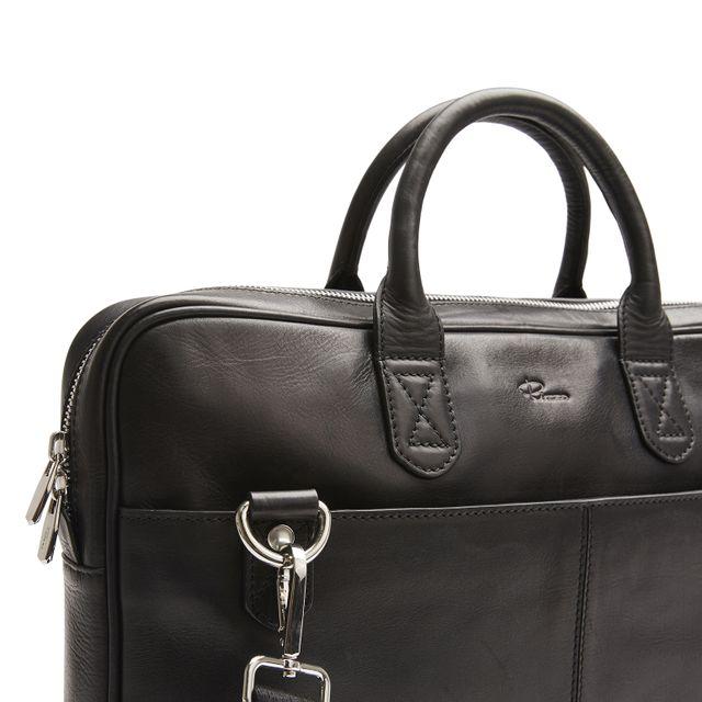 Rizzo Mark Slim Briefcase dokumentmappe i skinn