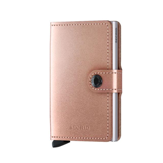 Secrid Miniwallet liten lommebok i skinn og metall